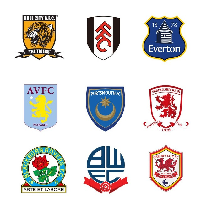 English Premier League Football Team Logos LUMINOUS ... English Soccer Team Logos
