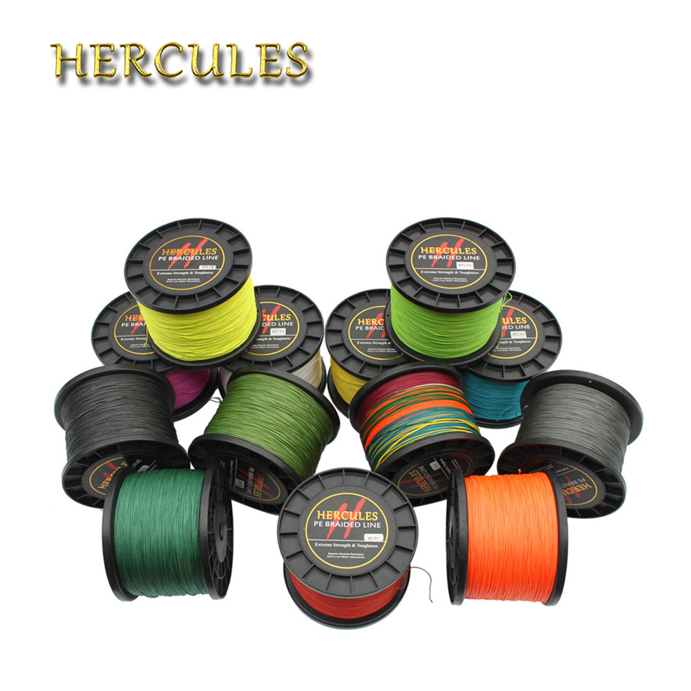 Hercules 1500M Braided Fishing Line 180LB Multifilament PE Carp Fishing Cord Tresse Peche 8Strands linha de Pesca Multifilamento daiichiseiko knot assist 2 0 for fg knot braided line to leader connection fishing accessories ferramentas accesorios de pesca