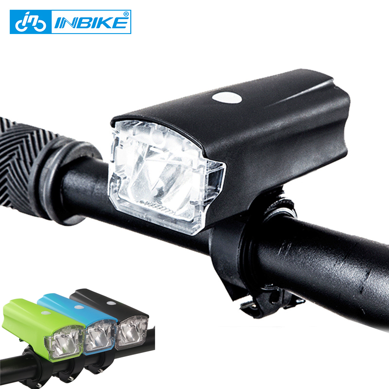 INBIKE Bike-Accessories Flashlight LED Warning Waterproof Rechargeable USB