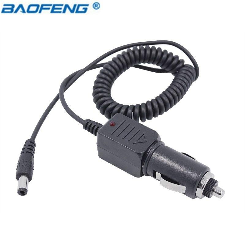 Neue Baofeng Version 12-36 v Eingang Auto Ladegerät Kabel Anzeige Licht Für pofung UV-5R UV-82 GT-3 UV-9R Plus UV5R uv82 UV9R radio