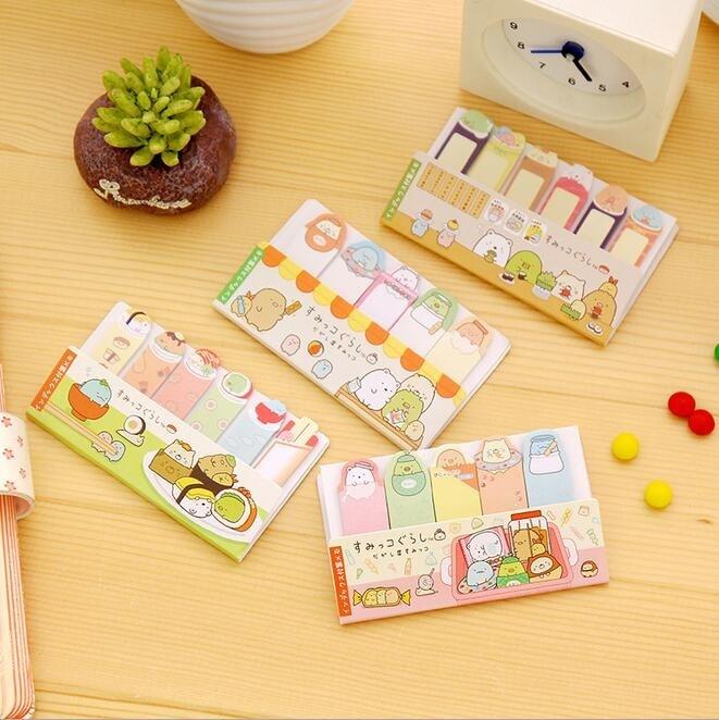 20packs/lot Kawaii Cartoon sumikkogurashi Memo Pad Post it Paper Sticker Stationery Office Accessories School Supplies