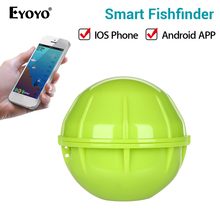 Eyoyo E1 fishfinder Wireless Sonar Fish Finder Depth Sea Lake Fish Detect findfish smart sonar echo sounder for iOS Android App bluetooth fish finder sea fish detect device for ios for android 25m 80ft sonar fishfinder wireless fishing detector top quality
