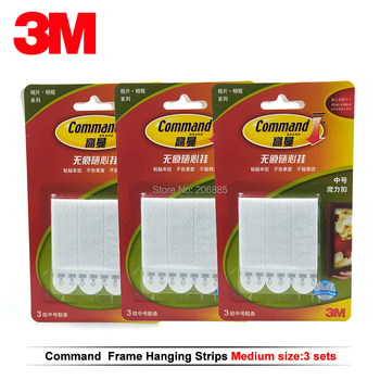 12pcs Medium 3M command Picture Hanging Strips Command damage-free magic strip Command Inter Locking Faster фото
