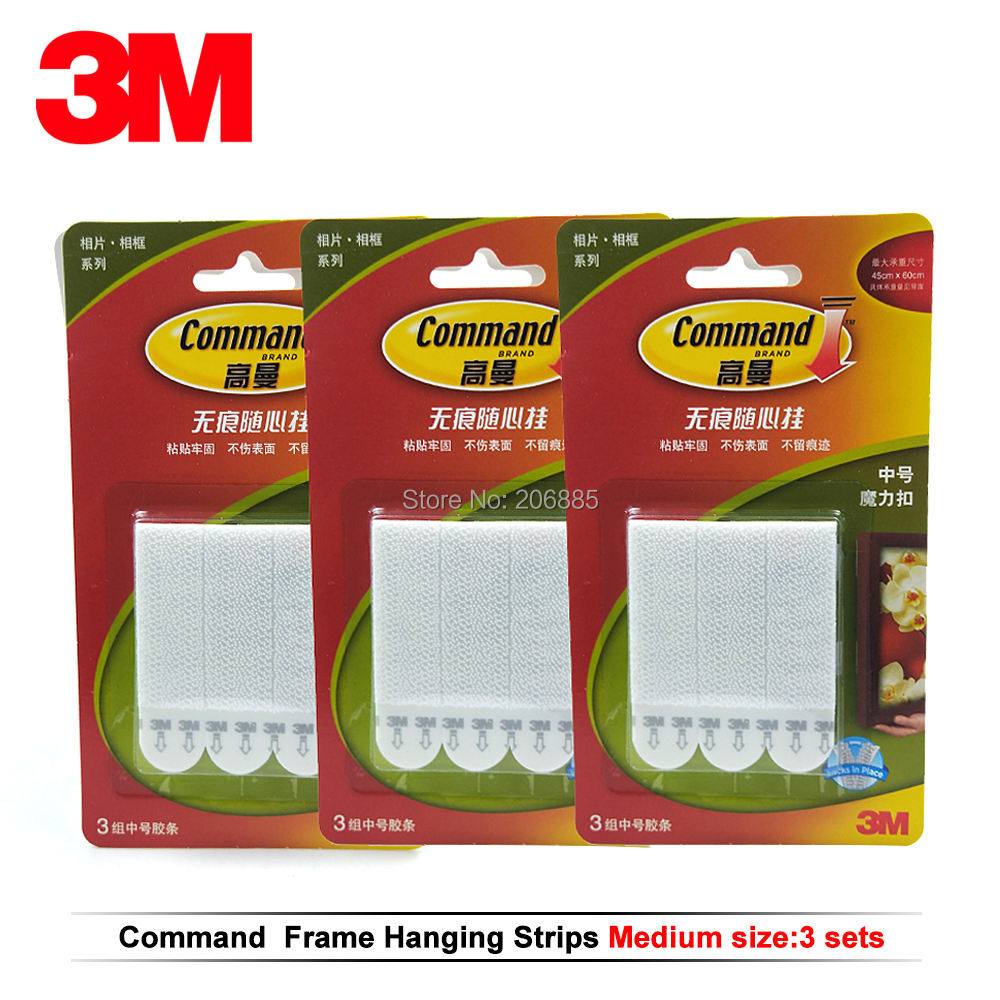 12pcs Medium 3M command Picture Hanging Strips Command damage-free magic strip Command Inter Locking Faster image