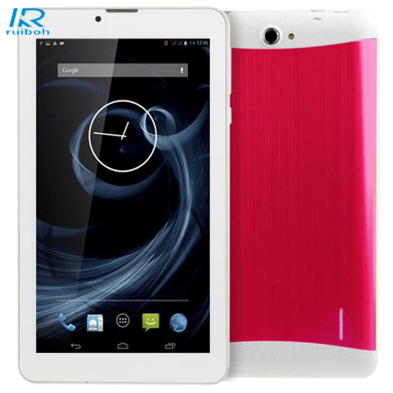 7 Tablet PC Android Duai Core, 1GB di Ram; 16GB Rom 1.3GHz Phablet WCDMA 3G GSM HD Bluetooth GPS Tablet PC Red адаптер dell 540 bbds i350 qp 1gb full height