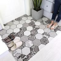Nordic minimalist entry PVC Silk loop door mat Entrance Rubbing dust carpet Kitchen anti slip mat Custom irregular shape rug