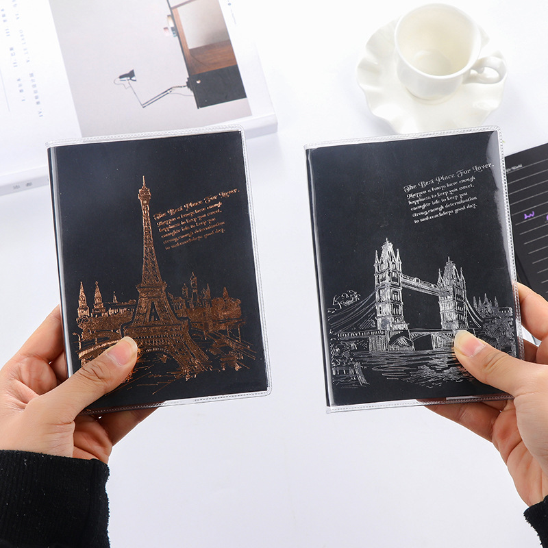 Creative Tower Notebook Black Lined Page Notepad Stationery Diary Notebook Soft Cover Office School Supplies sitemap xml page 7