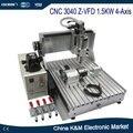 Frete Grátis CNC 3040 Z-VFD eixo refrigerar de água 1.5KW 4 eixo 3D CNC máquina de gravura não precisa para montar