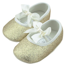 Hot Sale Infant Toddler Princess Girls Shoes Soft Sole Bottom Bling Indoor Home Shoes Baby First Walker Shoes Slippers 0-18M