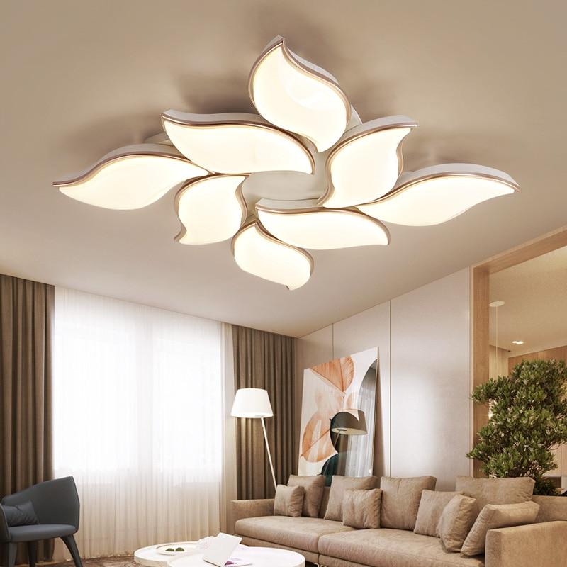 OPKMB Moderne Deckenbeleuchtung Für Wohnzimmer Schlafzimmer Dekorative  Blume Kronleuchter Decke Mit Fernbedienung
