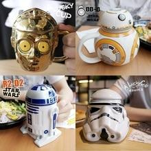 OUSSIRRRO Star Wars Mug R2D2 BB Darth Vader 3D ყავა და სასმელი თასი მაღალი ტემპერატურის წარმოებისთვის კერამიკა