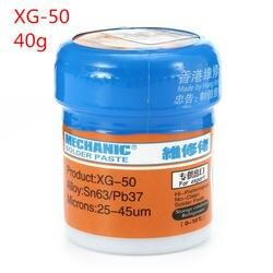 Паяльная паста Flux XG-80 XG-50 XG-30 оловянный припой Sn63/Pb67 для Hakko 936 TS100 паяльник плате SMT SMD Repair Tool