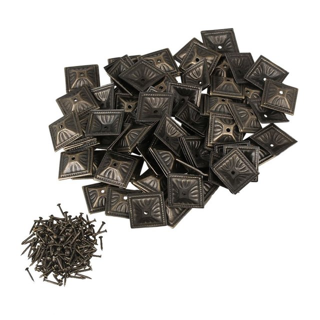 decorative studs for furniture. 21x21mm Square Nailhead Bronze Iron Antique Upholstery Nails Tacks Studs Pins Furniture Decorative Pack Of 100 For N