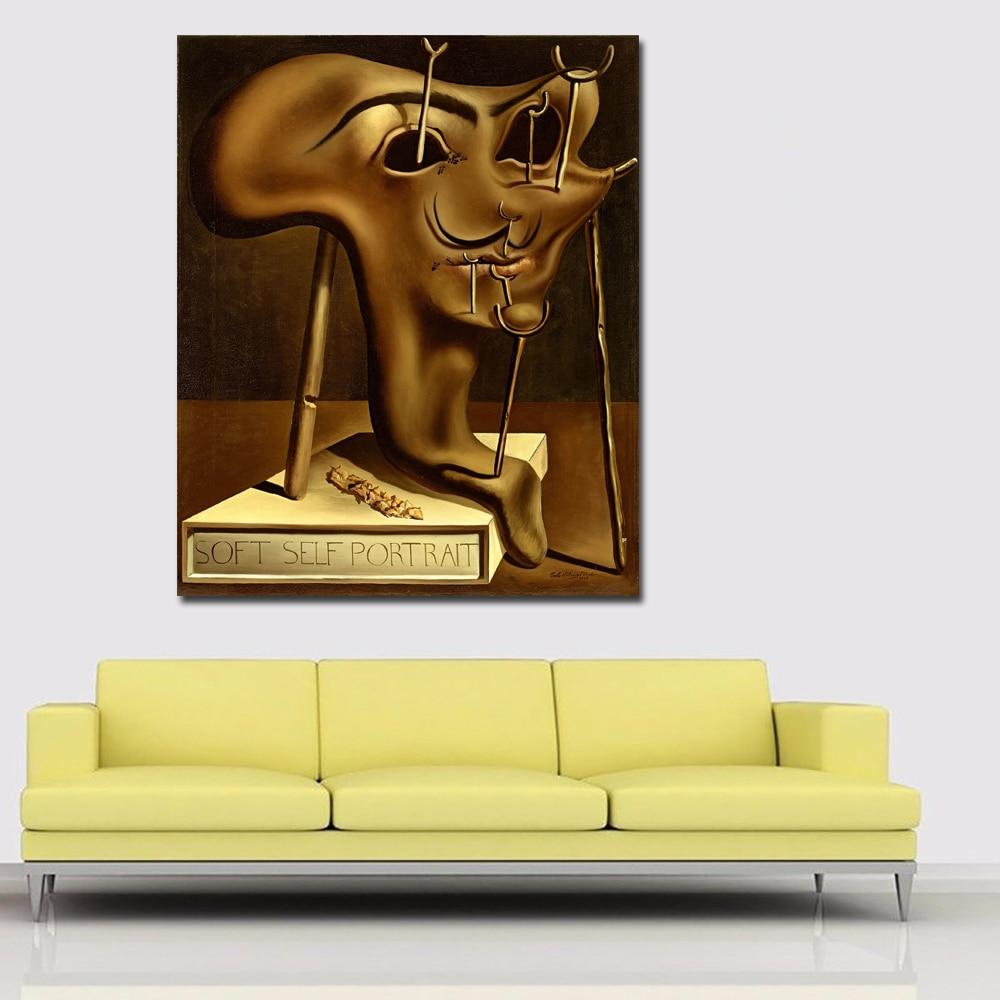 Pictorial Art Self Portrait Of Salvador Dali Wall Art Painting ...