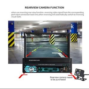 "Image 3 - Podofo 7"" Retractable Autoradio GPS Bluetooth Navigation Car Radio MP5 Player Audio Stereo 1DIN Universal FM Car Accessories"