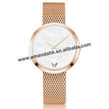 Модные женские часы с сетчатым ремешком кварцевые наручные часы простые часы sb18091013