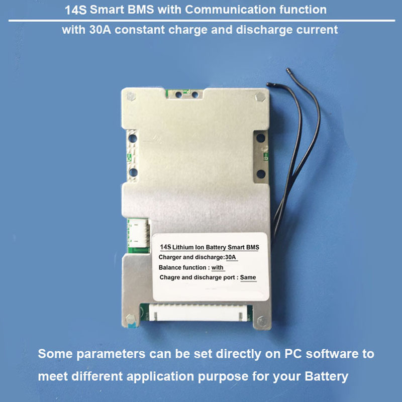 14S Bluetooth Software BMS with 30A constant charge and discharge current 58 8V Smart BMS for