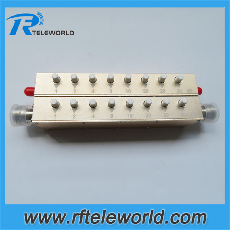 5W 0 90db SMA N 1dB stepped variable step attenuator keypress attenuators 2 5 3GHz 50ohms