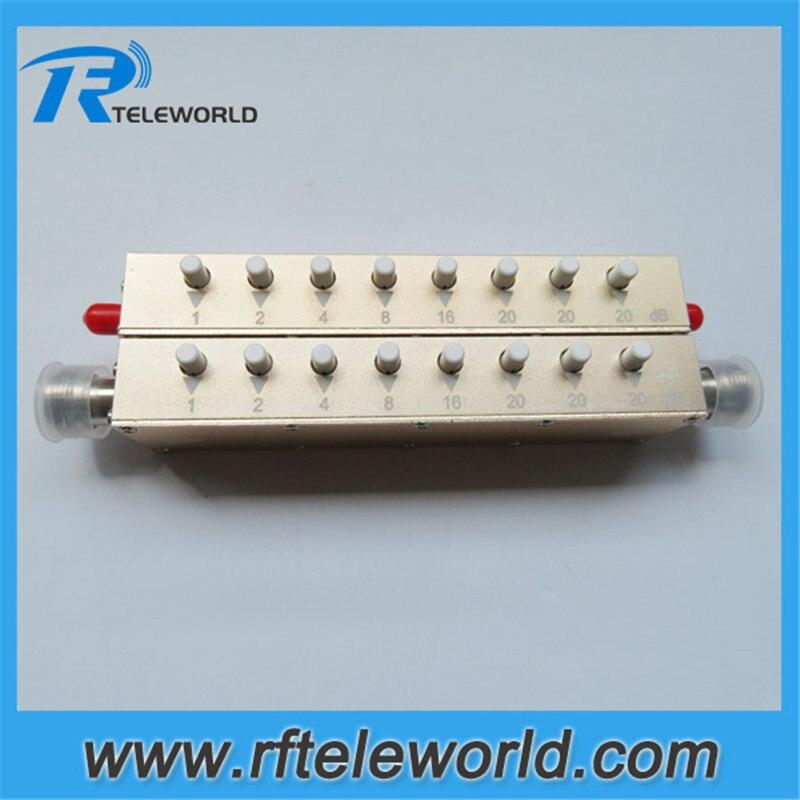2.5/3GHz 50ohms 5W 0-90db SMA/N 1dB Stepped Variable Step Attenuator Keypress Attenuators