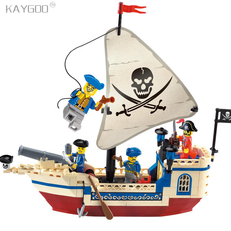 Kaygoo 304 Pirates Of The Caribbean Brick Bounty Pirate Ship Building Blocks Brick Sets Christmas Gifts for kids toys