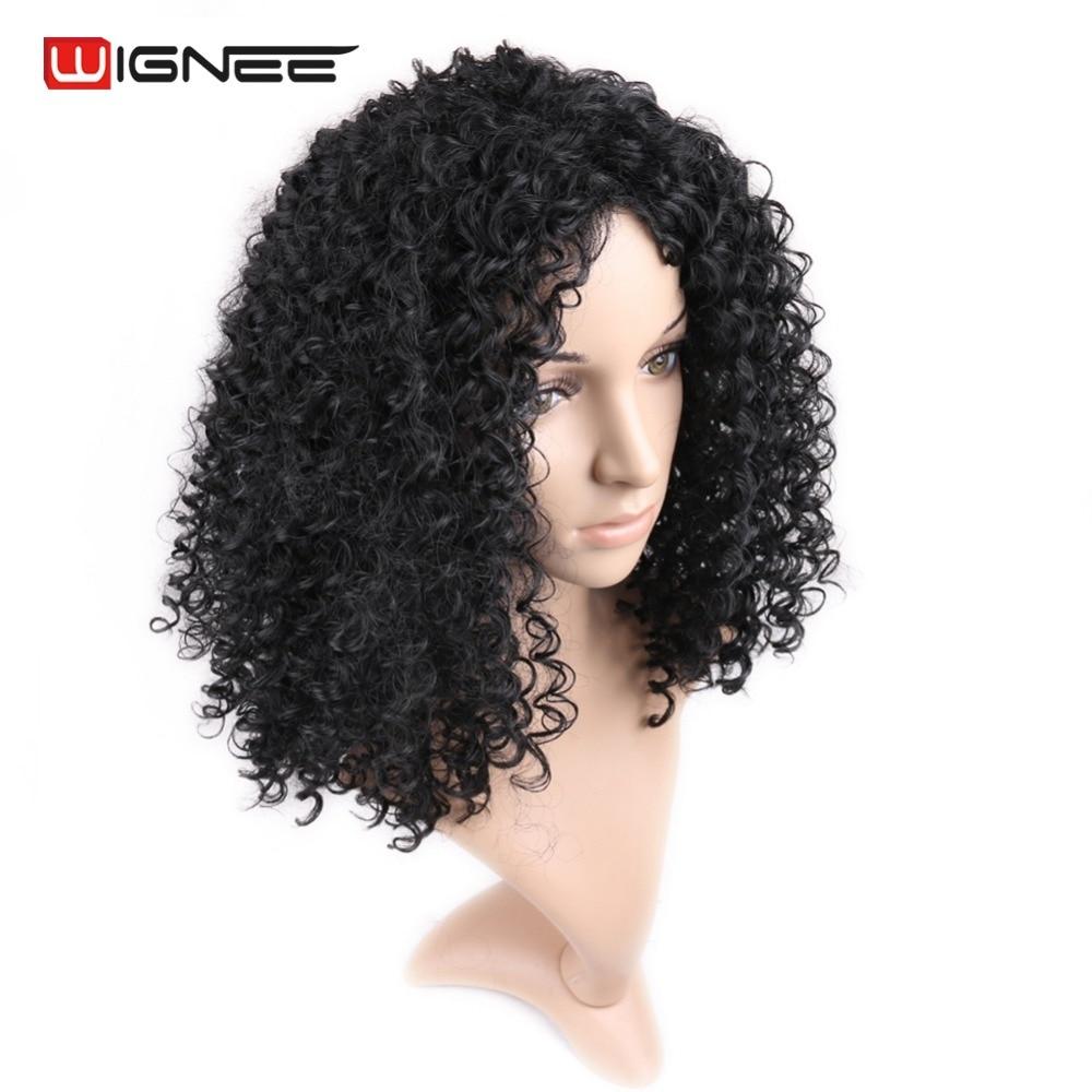 Wignee Kinky Curl Синтетичні Перуки Для - Синтетичні волосся
