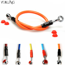 Stainless Steel brake hose cable hydroline forfluid for trial dirt pitbike bike motorcycle CRF YZ WR EXC 230 250 300 400 426 450