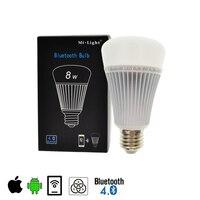 Mi Light Bluetooth Bulb 4.0 8W E27 AC85 265V Full Color Smart LED LightS with IOS Android APP Control bulbs