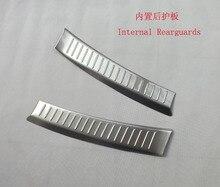 Free shipping 2012-2014 cx-5 Built Rearguards 2013 Maz da cx-5 Stainless steel Rear bumper protector cx5 auto accessories 2pcs