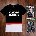 Camisa de T dos homens de Calvin Harris Impresso DJ Show de CORDA Masculino T-shirt de algodão de Manga Curta Mn de Fitness O Pescoço camisetas LIVRE GRÁTIS