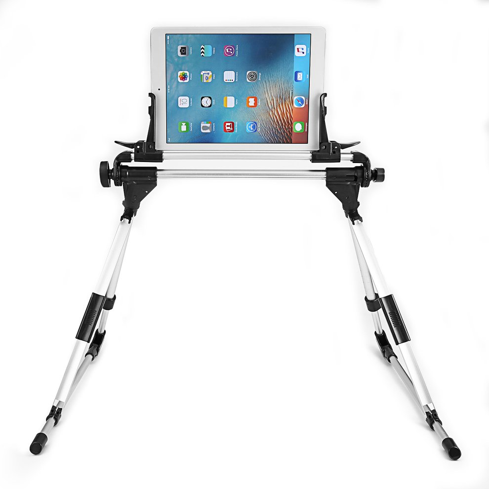 2pcs Foldable Desk Floor Stand Lazy Bed Tablet Holder Mount For iPad Tablet new foldable holder for ipad mini gps tablet pc 7 14 metal multi functional bracket mount stand car bed table desk
