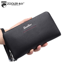 ZOOLER long shape Genuine Leather wallet men purse soft top quality Men wallet leather clutch bags  real leather hot  #JL-80028