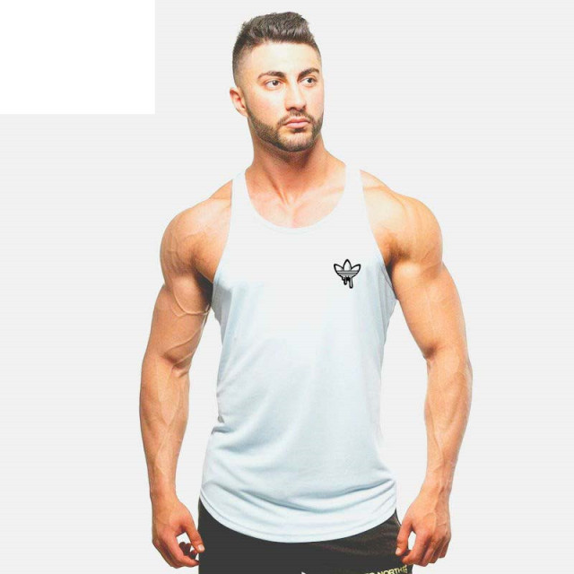 2017 Clothing Fitness Men Tank Tops Muscle Men Wear Gymclothing Vest Stringer Sportswear Bodybuilding Round neck T Shirt Male