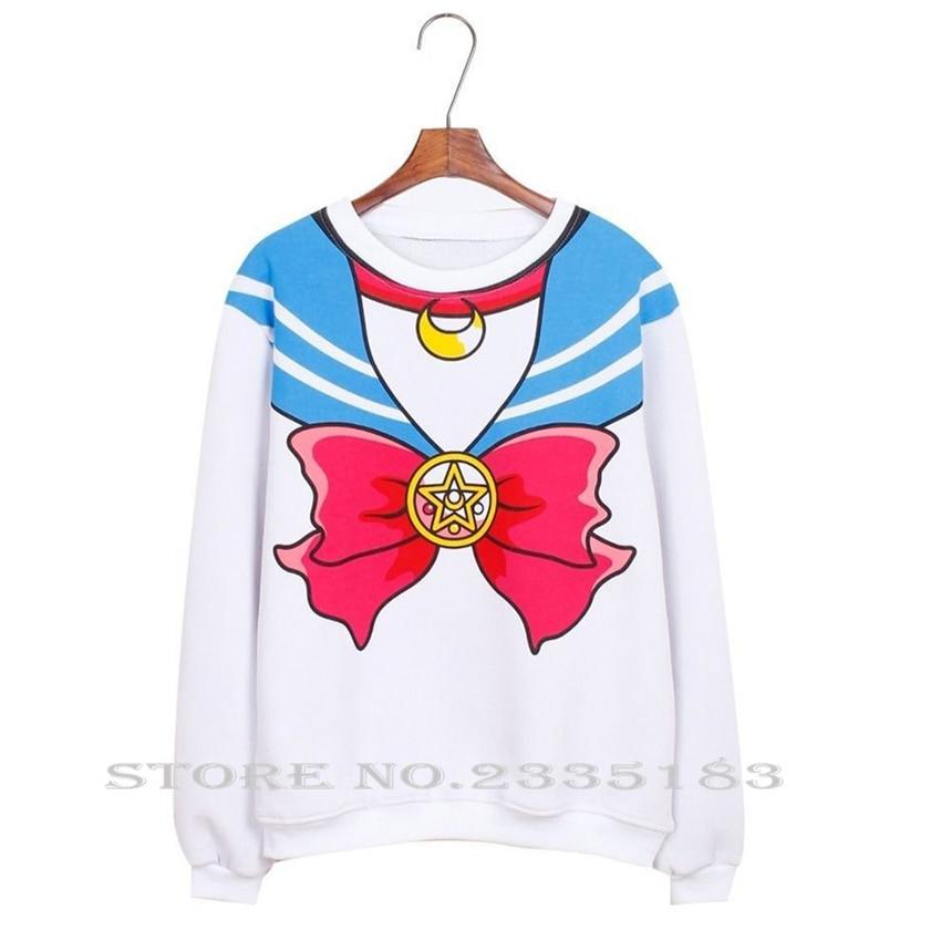 Japanese font b Anime b font Sailor Moon Hoodie shirt Top Harajuku Kawaii Cute font b