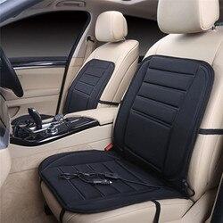 Uniwersalny czarny 12V miękkie pogrubienie podgrzewane siedzenie samochodu poduszka ocieplacz na zimę podgrzewacz siedzenia z regulatorem temperatury