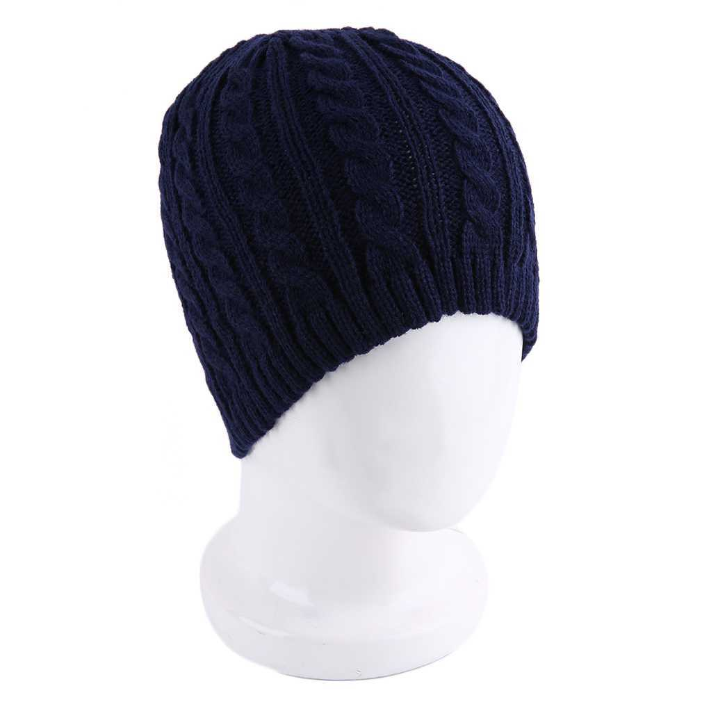 2017 Winter Single Layer Men Women Fashionable Twist Cotton Knitted Design Hat Keep Warm Beanies Protect Ear Hats Sale
