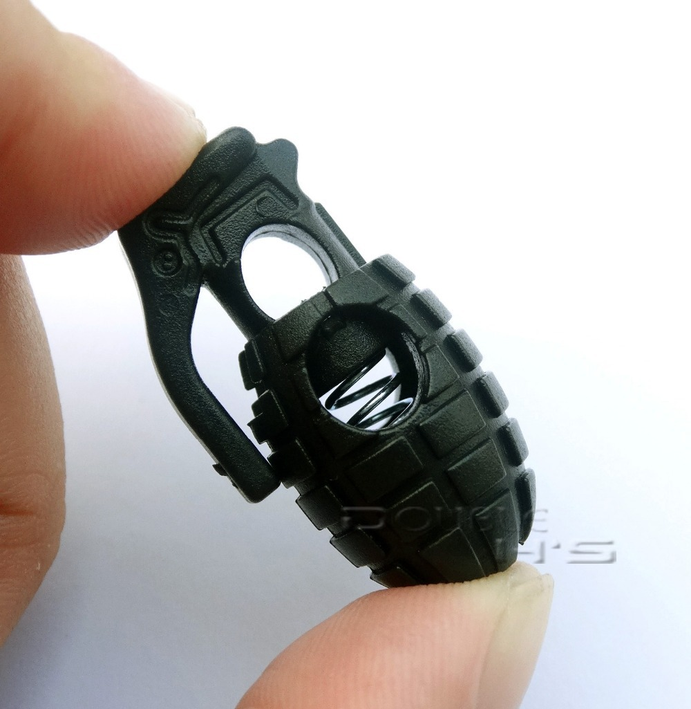 aa3b7e04c350 20pcs lot Grenade Style Plastic Cord Lock Stopper Black For Paracord Shoe  Lace-in Stopper from Home   Garden on Aliexpress.com