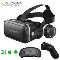 Shinecon 6 0 VR Virtual Reality Goggles 3D Glasses Google Cardboard VR Headset Box For 4