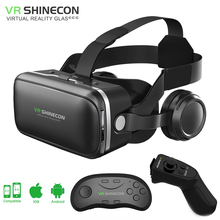 shinecon 6.0 VR virtual reality goggles 3D Glasses google cardboard VR headset box for 4.3-6.0 inch ios and Android smartphone