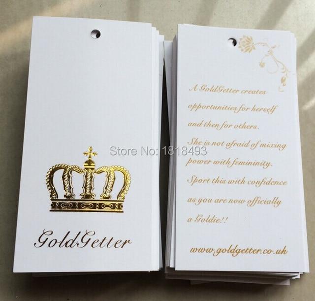 Aliexpress.com : Buy customized clothing embossed golden logo hang ...