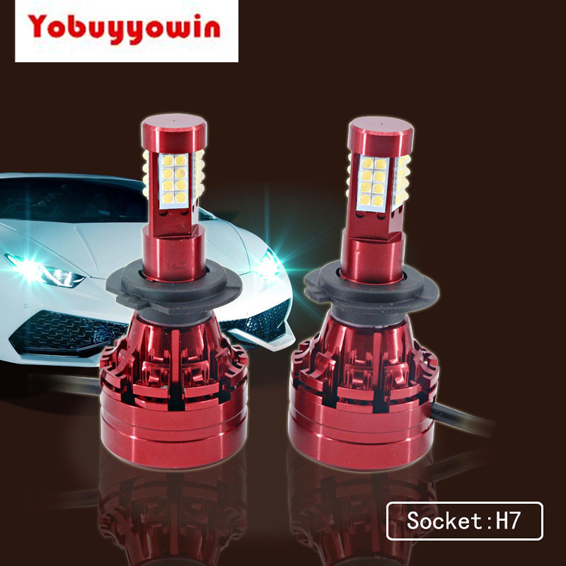 2 Unit High Power Sharp Chips H7 PX26D 472 LED Headlight Bulbs 16000Lm 160W Xenon White for Replacing High or Low Beam Headlamp