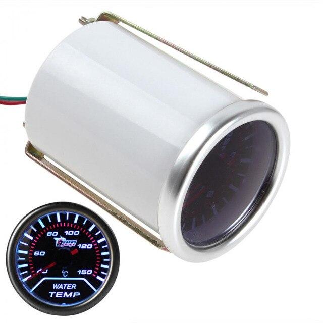 """Alta Calidad y Peso Ligero de 2 """"52mm Universal Car Smoke Len LED medidor de Temperatura del Medidor de Agua"""