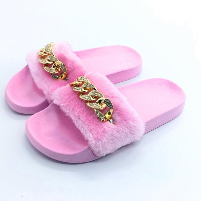 AoXunLong Zapatillas Mujer Furry Slide Zapatillas de casa Moda - Zapatos de mujer - foto 2