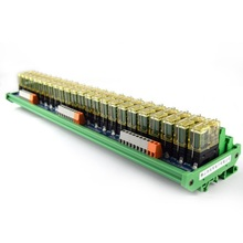 24-way relay dual-group module, 24V rail installation, PLC amplifier board control