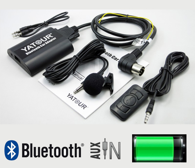 Yatour BTA Bluetooth интерфейсі Volvo HU-xxx автокөлігі үшін HU650 HU803 U401 HU615 HU650RDS HU850 Smart Phone Hand Free A2DP Music