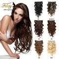 Wave Clip In Human Hair Extensions 7pcs/set Brazilian African American Clip In Human Hair Extensions Clip Ins Body Wave Hair