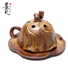 Kiln glaze vintage censer fragrant sandalwood fragrance incense coil tower he Ye Lianpeng burner road