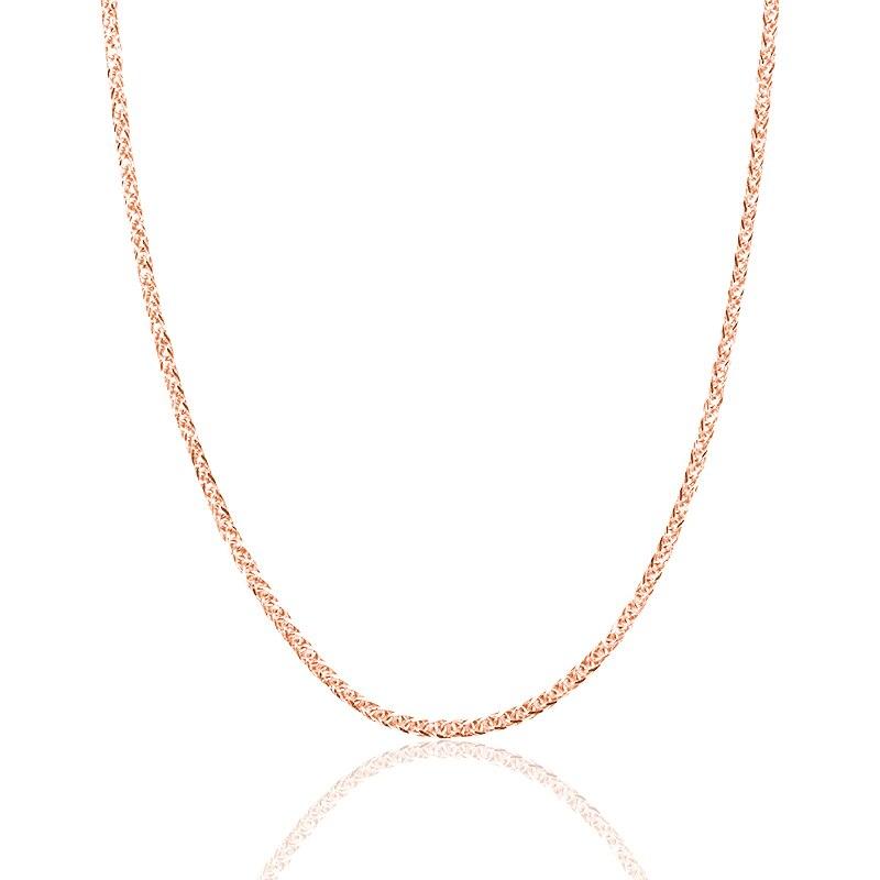 Collar de cadena de oro de 18 K Real collar de 18 pulgadas au750 para mujer, rosa oro blanco oro amarillo oro cadena collar joyería regalo-in Collares from Joyería y accesorios    3
