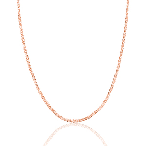 Image 3 - Prawdziwy 18 karatowy złoty łańcuszek naszyjnik 18 cali au750 naszyjnik dla kobiet, różany złoty biały złoty żółty złoty łańcuszek naszyjnik biżuteria prezent