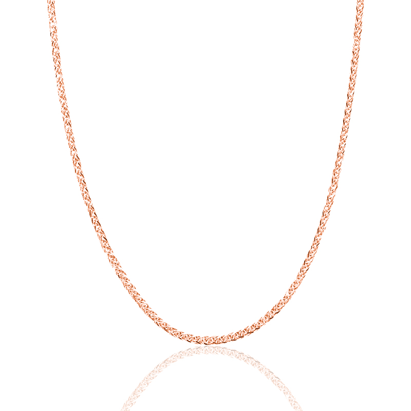 Image 3 - Real 18K Gold Chain Necklace 18 inches au750 necklace for Women ,rose gold white gold yellow gold chain necklace jewelry gift-in Necklaces from Jewelry & Accessories