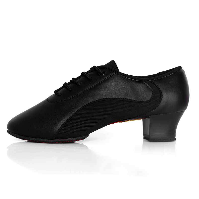 Modern Men Boy Ballroom Latin Tango Dance Shoe Square Heeled Black Jazz Dancing Shoes  Men Sport Sneaker Shoes Dancewear US Size